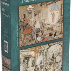 2 Puzzels Anton Pieck